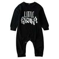 Newborn Infant Baby Boys Little Brother Romper Jumpsuit Bodysuit Outfits Clothes