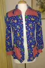 Vintage homemade art smock raggedy Ann and Andy size small blue & red
