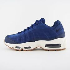 New Womens Nike Air Max 95 Blue Leather Trainers Sneakers UK 4.5 Kids 307960 400