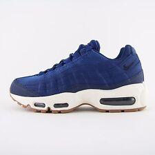 Nueva camiseta para mujer Nike Air Max 95 Azul Cuero Zapatillas Sneakers UK 4.5 niños 307960 400