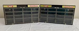 Lot of 2 | 1981 Hot Wheels Showcase Display Case | 1 Brown & 1 Black | No Cars