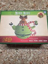 Cracker Barrel Merry Merry Tea For One Three Pc Set Christmas Reindeer / Moose