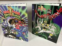 Lot of 2 1993 Mighty Morphin Power Rangers Vintage Folders for 3Ring Binders