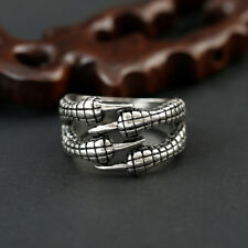 Men Gold Stainless Steel Black Baguette Onyx Gemstone Biker Ring Band Jewelry