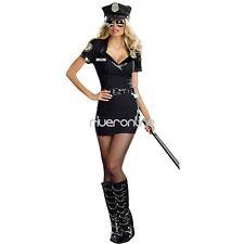 Sexy Women Police Uniform Costume Dress Halloween Cosplay Fancy Dress Outfit Hot
