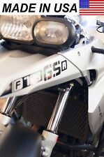 AVT BMW 08-12 F650GS Twin Radiator Protector / Shield / Guard / Cover BLACK