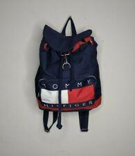 Vintage Tommy Hilfiger Drawstring Backpack Big Flag Spell Out VTg 90s USA