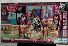 MONSTER HIGH 3 in 1 Panorama Puzzle RARE CLASSROOM Scene XMAS Gift New Sealed