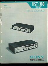 Rare Original Factory Sony HST 388 AM FM Stereo 8 Track Receiver Service Manual