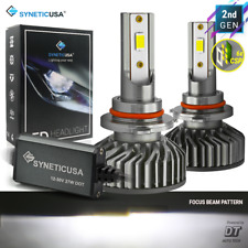 Syneticusa HB3 9005 LED Headlight Bulbs CSP Light Kit 6000lm 6000K White