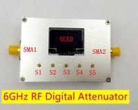 6G Digital Attenuator Programmable OLED 60DB Step 0.25DB RF Module Aluminum Case