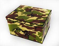 KHAKI GREEN ARMY CAMOUFLAGE MULTI USE KIDS STORAGE BOX FOOT STOOL SEAT LAUNDRY