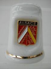Dé à coudre THIMBLE - ALSACE ECUSSON EMAIL BLASON