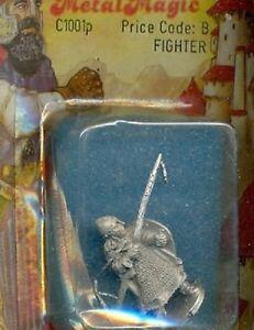 METAL MAGIC FANTASY 1001P FIGHTER W/ SPEAR& SHIELD