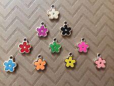 30 Multi-color Flower Pendant Charm Jewelry DIY Wholesale