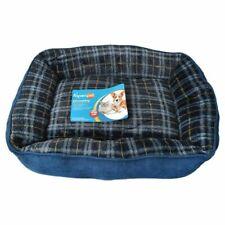 Aspen Pet Rectangular Lounger Plaid 22 X 18 Assorted Blue/brown/gray