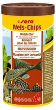 Sera Wels Chips 1000ml / 1 Liter Futter mit Holzanteil für Welse L-Welse