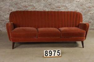 Bank vintage loftbank Samt Couch nr.8975