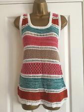 NEXT Ladies Multi Stripe Knit Sleeveless Vest Top Size 10