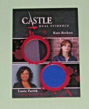 CASTLE Seasons 1 & 2 Cryptozoic : Dual Evidence Card Beckett and Parish DM09