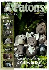 Patons Knitting Pattern Book Wool Blend DK 6 Woodland Animals 3824