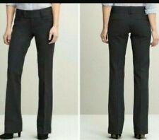 NWT BANANA REPUBLIC Women's Sloan Fit Flare PANTS, Size 0 Black Herringbone NWT
