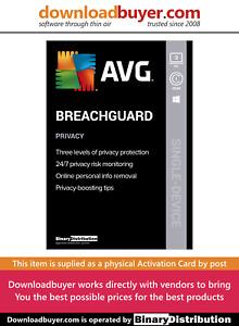 AVG BreachGuard 2021 - 3 PC - 1 Year [Activation Card]