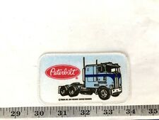 Peterbilt Trucks Blue And White Edge Embroidered Iron-On Patch-Nice!