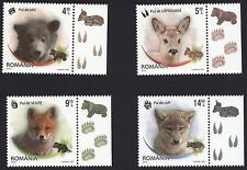 Romania 2012 Fauna Wild Cubs Baby Animals Very Cute Complete Set of 4 MNH