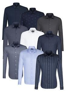 Seidensticker Herren Langarm Business Hemd Herrenhemd Tailored Kent OVP1