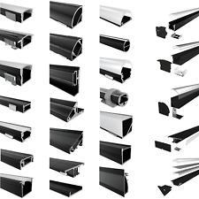 LED Aluprofil Aluminium Profile Leiste Schwarz für LED-Streifen 2m