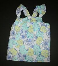 New Gymboree Floral Sparkle Smock Top Tank Tee Size 8 Year NWT Tide Pool Line