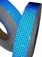 New High Intensity Reflective Tape Vinyl Blue 25mm x 10m