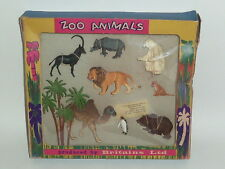 britains herald plastic soldiers 1:32 boxed zoo animals & palm tree box H 7320