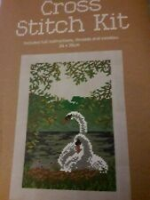 Cross Stich Kit Swan Picture - 24 x 35cm. Includes full instructions