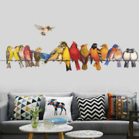 Birds On Wire Wall Sticker Nursery Decor Kids Removable Vinyl Decal Art Mural