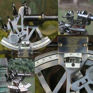 Solid Brass Kelvin & Hughe Vintage Marine Sextant German Sextant Ship Instrument