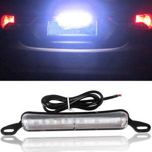 Universal White 6000K 12-SMD Xenon Bolt-On LED License Plate Light Lamp For Car