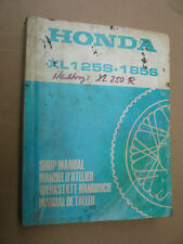 HONDA XL 125 + 185_s _ OFFICINA-MANUALE DA 1978 _ SHOP MANUAL _ Manuel D 'Atelier