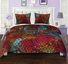 Indian Mandala Duvet Boho King Size Quilt Comforter Cover Bohemian Bedding Set ❤
