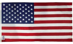 Sentinel Printed U.S. American Flag 3x5 Poly/Cotton Made in USA Brass Grommets