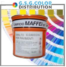 Smalto vernice per pavimento al clorocaucciù litri 0,750 colori ral