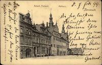 Arnstadt Thüringen AK 1899 Kaiserliches Postamt Rathaus Post gelaufen nach Stade