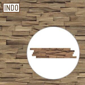 INDO Holz Wandverkleidung Wandverblendung Beachwood Hevea Natural Fläche 1 m²