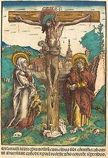 Lucas Cranach Reproduction: Christ on the Cross; Virgin, St John- Fine Art Print