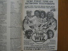 '80 TV Guide(THE WIZ/DIANA ROSS/SUSAN HARRIS/ANN LOUISE LAMBERT/LUCREZIA BORGIAS