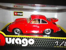 Bburago Porsche 356b 1961 ROJO 1/24