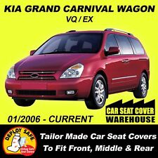 KIA CARNIVAL CAR SEAT COVERS TO FIT FRONT+MIDDLE+REAR 2006 -ONWARDS AIRBAG SAFE!