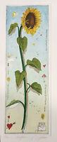 Dieter Portugall, Sonnenblume, Radierung, Originalgrafik,