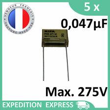 5 condensateurs RIFA PME 271 M X2 0,047µF 0.047µF 47nF 47n 275V SH 250V